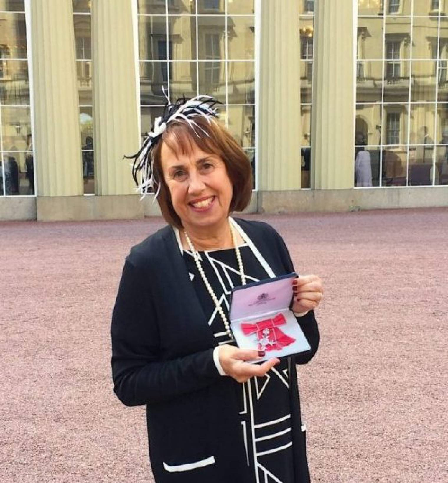 Sandra Landau receives MBE Award from HRH Princess Anne