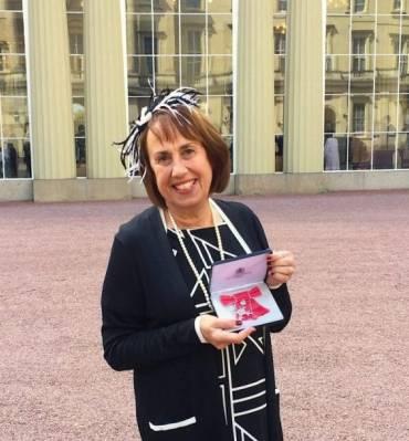 Sandra Landau receives MBE Award from HRH Princess Anne