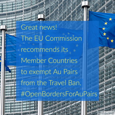 EU Commission exempts Au Pairs from the Covid 19 related Travel Ban to the EU